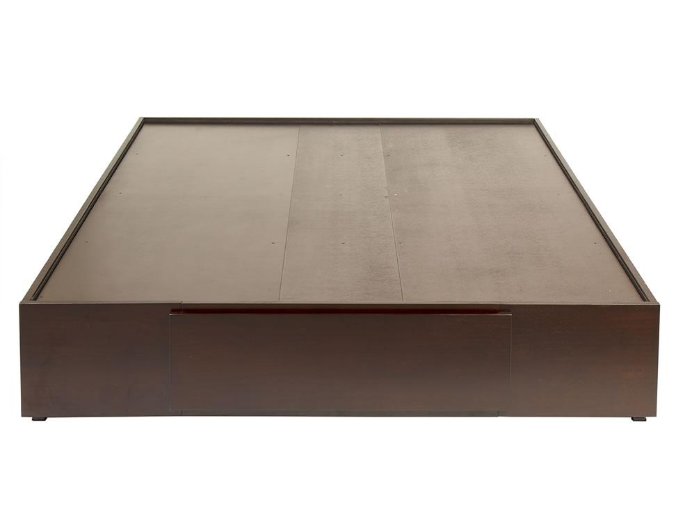 Tecam base para cama matrimonial contempor nea tabaco for Base para cama queen size minimalista