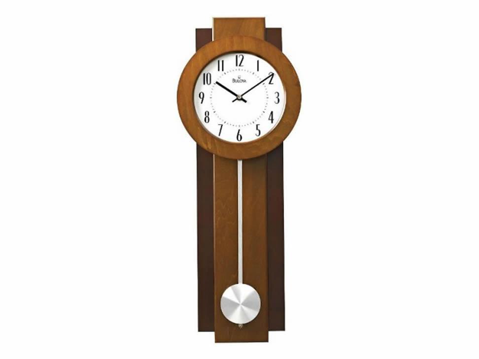 Reloj de pared con p ndulo bulova c3383 liverpool es parte - Relojes de pared grandes ...